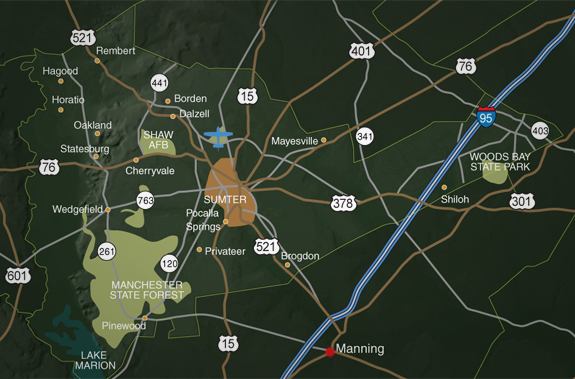 Sumter County Road Map
