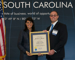 Caterpillar's Brian T. Mezei honored as Sumter County's Ambassador image