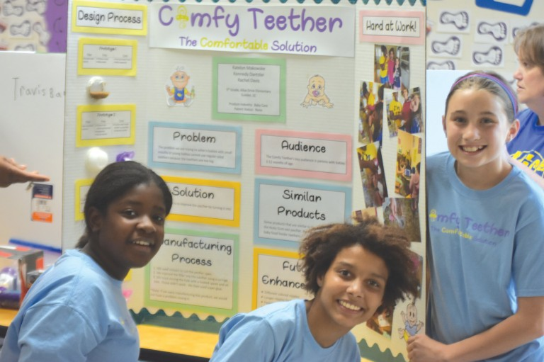 Alice Drive Elementary School students display STEM inventions image