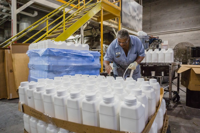 'Giving back' to Sumter in the pandemic: Paint company Sumter Coatings produces hand sanitizer for c image