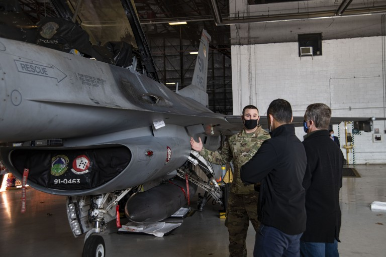Shaw AFB Invites Local Manufacturing Companies For A Base Tour And A F-16 Demonstration image